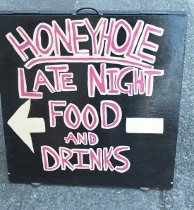 Honey Hole Sign